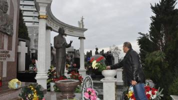 Динамовцы почтили память Валерия Лобановского